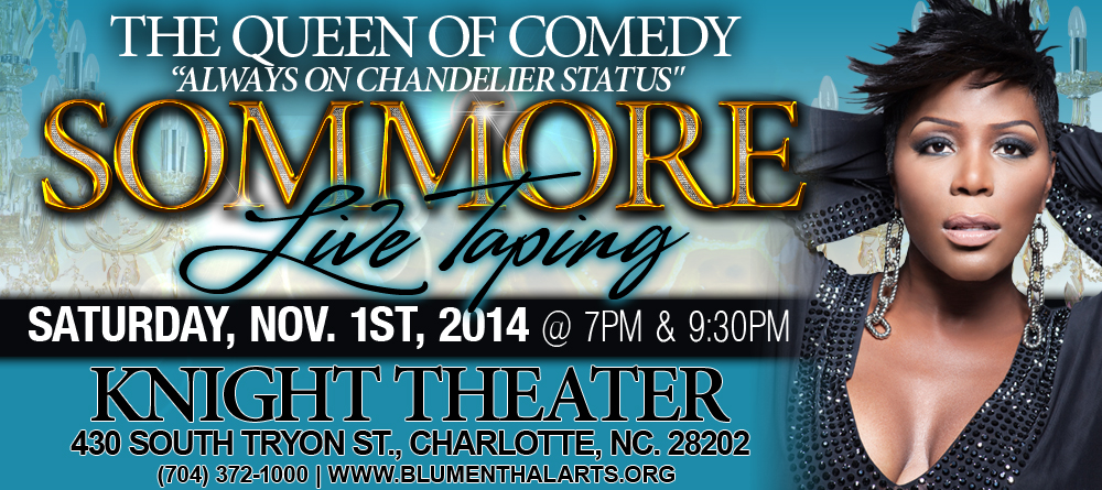 The Queen of Comedy Sommore Live StandUp Comedy Taping – Sommore Chandelier Status